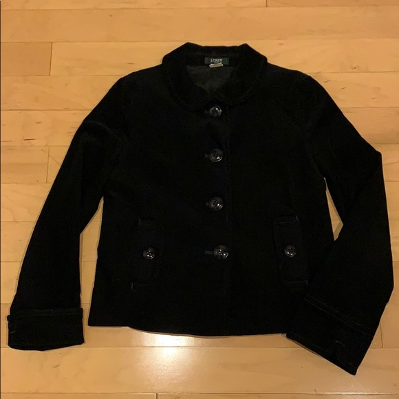 J.Crew Stretch navy Corduroy jacket size 2